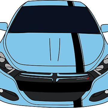 Dodge Dart Laguna Blue Front End by Jessimk