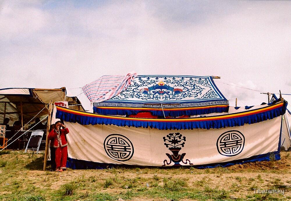 Tent in Tibet by Tibetansky