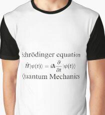 Physics, Quantum Mechanics: Schrödinger Equation - #QuantumMechanics, #SchrödingerEquation, #Quantum, #Mechanics, #Schrödinger, #Equation, #Physics Graphic T-Shirt