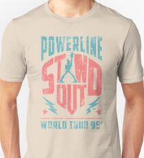Distressed STAND OUT Powerline Unisex T-Shirt