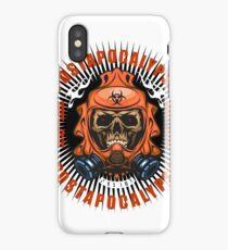 arms with skull iPhone Case/Skin