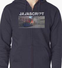 Javascript dumpster-fire Zipped Hoodie