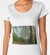 Enchanted trees in foggy forest Women's Premium T-Shirt