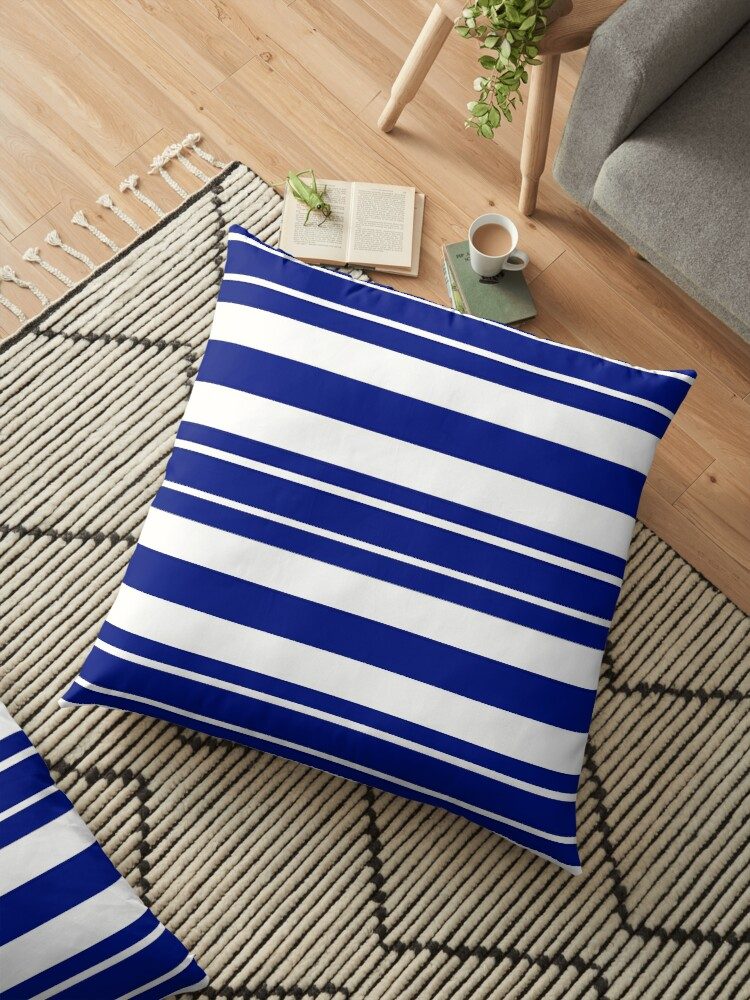 Navy blue and white stripe pattern by HEVIFineart