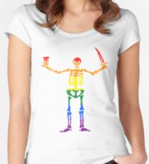 Pride Pirates Women's Fitted Scoop T-Shirt