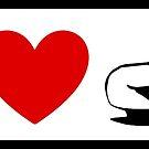 I Heart Cars (Classic Logo) by ShopGirl91706