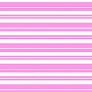 Pink and white stripe pattern  by HEVIFineart