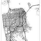 San Francisco Map Minimal by HubertRoguski