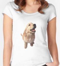 Puppy Retriever Women's Fitted Scoop T-Shirt