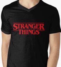 Stranger Things Logo  Men's V-Neck T-Shirt