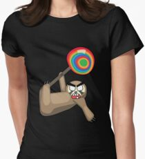 angry zombie sloth pop Women's Fitted T-Shirt