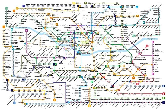 Seoul Subway Map Poster.Seoul Metropolitan Subway Map Poster By Superfunky