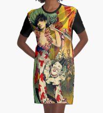 CIRCUS : Vintage 1890 Circus Advertising Print Graphic T-Shirt Dress
