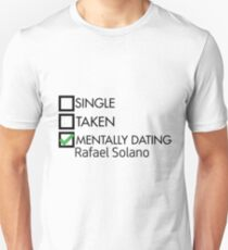 Camiseta ajustada mentally dating rafael