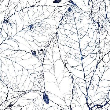 Leaf Skeleton Pattern - Porcelain by rachellynnart