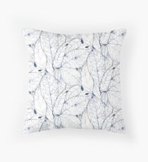 Leaf Skeleton Pattern - Porcelain Throw Pillow