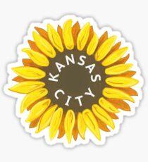 Kansas City Sunflower Sticker