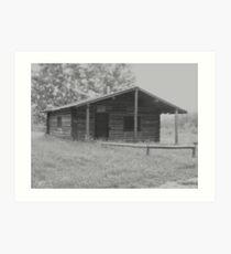 Old Ranger's Cabin  Art Print