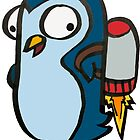 Penny the Flying Penguin - Blue by JMendezArt