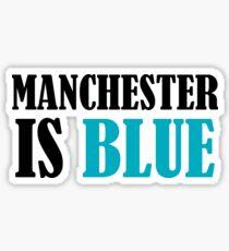 Man Blue Sticker