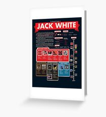 Jack White Infographic Greeting Card
