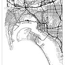 San Diego Map Minimal by HubertRoguski