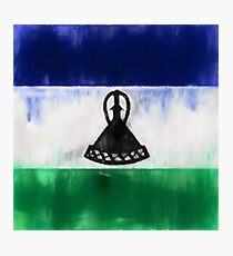 Lesotho Flag Reworked No. 1, Series 1 Photographic Print