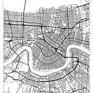 New Orleans Map Minimal by HubertRoguski