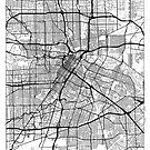 Houston Map Minimal by HubertRoguski