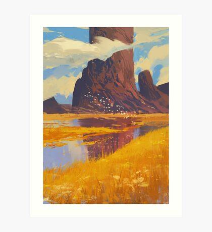 Rocks & River Art Print