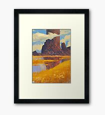 Rocks & River Framed Print