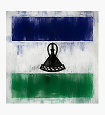 Lesotho Flag Reworked No. 2, Series 2 Photographic Print