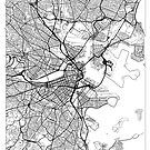 Boston Map Minimal by HubertRoguski