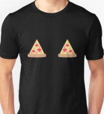 Funny Pizza Boobs T-Shirt | Pizza Slices Summer Time T-Shirt