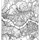Seoul Map Minimal by HubertRoguski