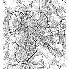 Rome Map Minimal by HubertRoguski