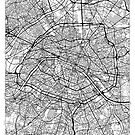 Paris Map Minimal by HubertRoguski