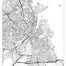 Copenhagen Map Minimal by HubertRoguski