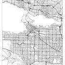 Vancouver Map Minimal by HubertRoguski