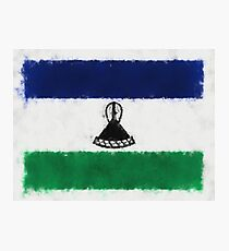 Lesotho Flag Reworked No. 66, Series 5 Photographic Print