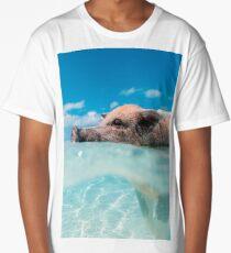 pig in water Long T-Shirt