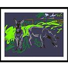 Two rescue donkeys by Helen Imogen Field