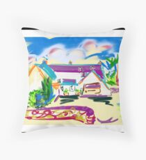 The Potting Shed at Crudwell from the garden Throw Pillow