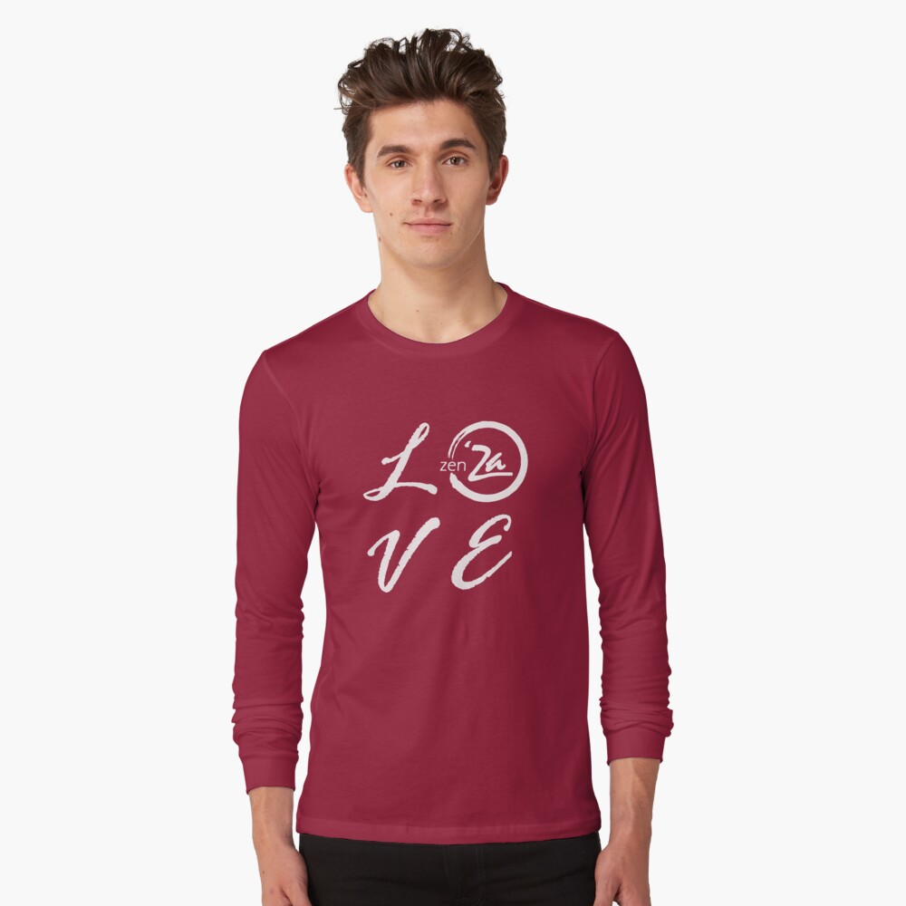 Love 'Za - Italic Long Sleeve T-Shirt Front