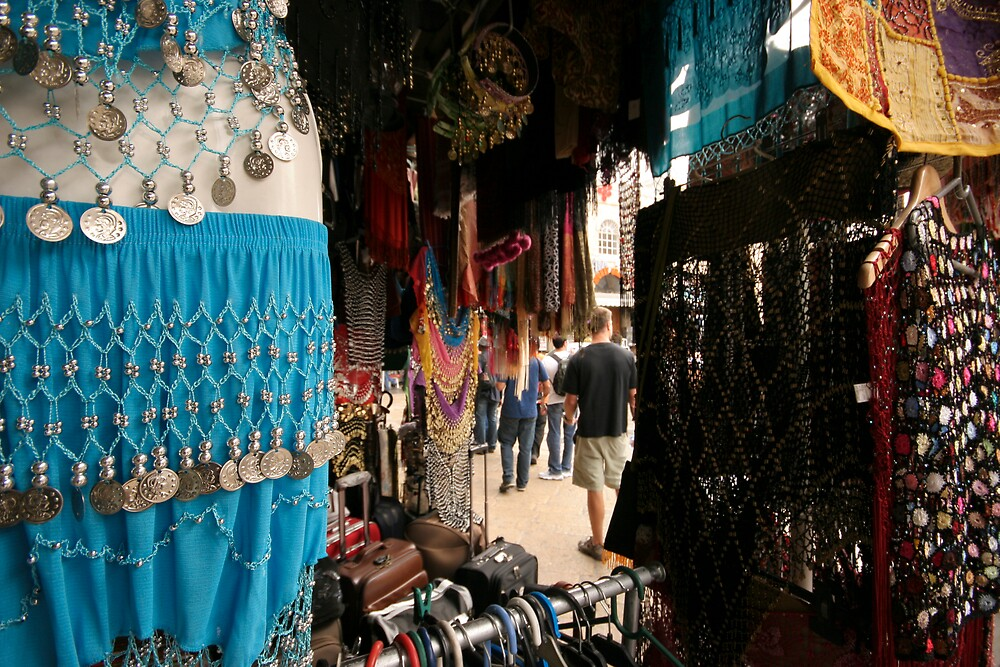 Shops on the Streets of Jerusalem by highadventure