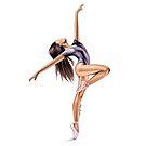 Purple Ballerina by Elza Fouche