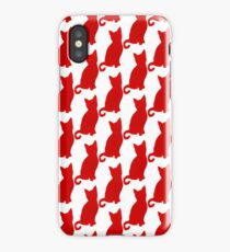 Screen Print Cat Silhouette iPhone Case/Skin