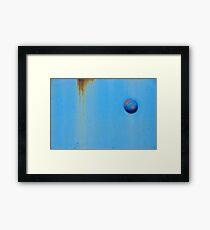 Button Blue Framed Print