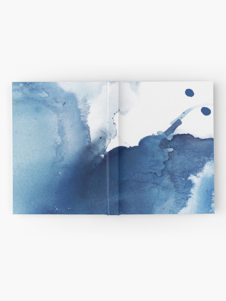 Alternate view of Indigo Blue Sea, Abstract Ink Painting Hardcover Journal