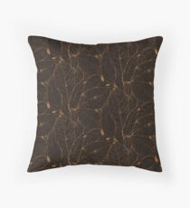 Leaf Skeleton Pattern - Natural Floor Pillow